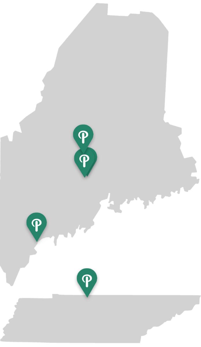 Puritan Locations in ME & TN
